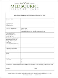 Booking Forms